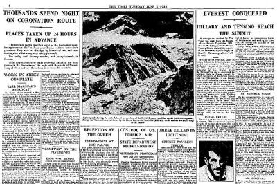 Everest Times headline