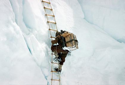 in Khumbu icefall