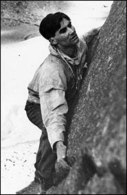 Michael Ward climbing
