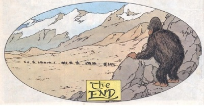 Tintin in Tibet end