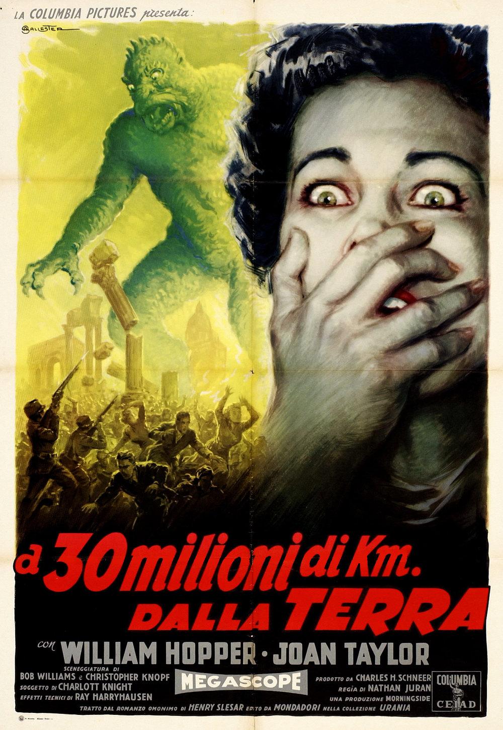 20 million miles Italian poster