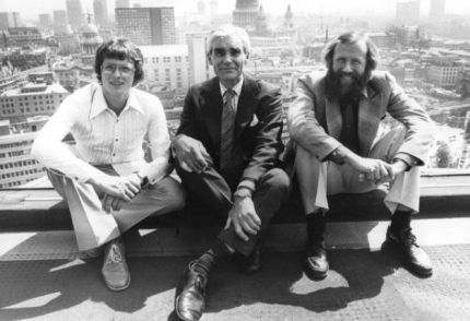 Alan Rouse (l), Michael Ward (c), Chris Bonington (r). London, 1980.