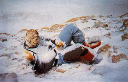 One of nearly two hundred dead bodies on Everest.
