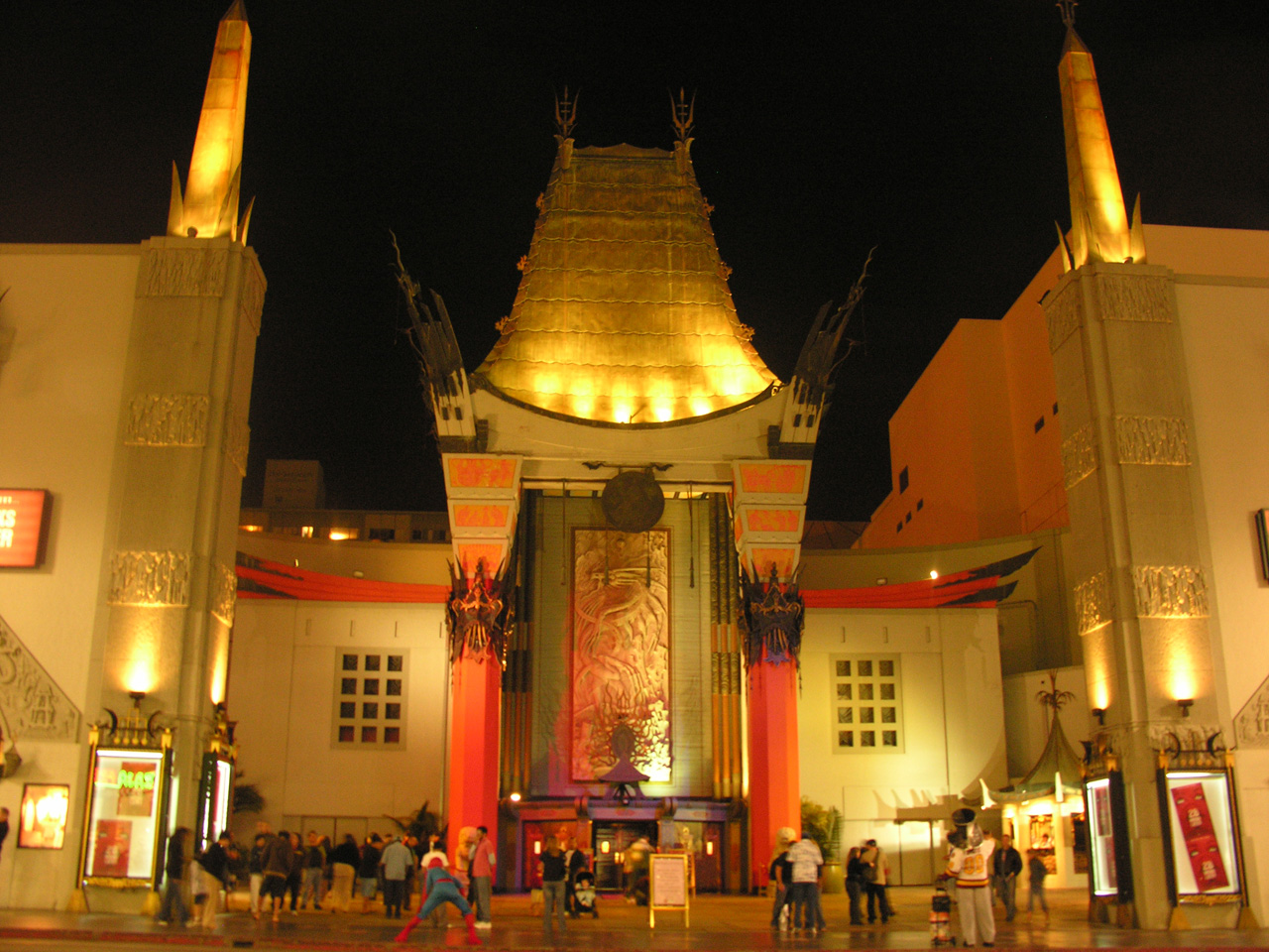 Grauman's Chinese Theatre (note Spiderman in foreground)