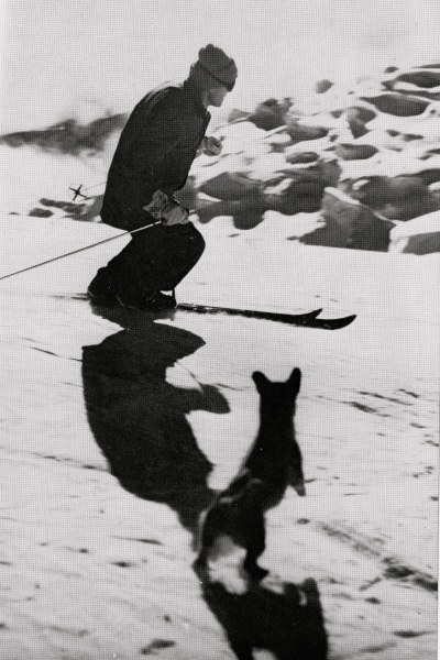 Griff Pugh skiing