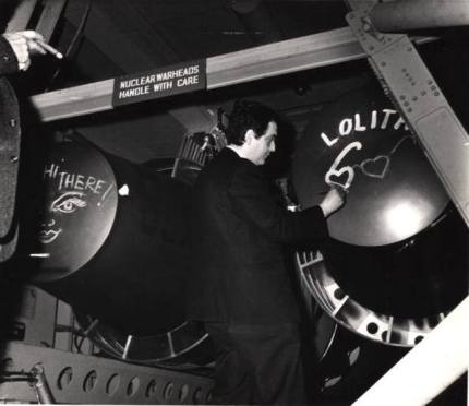 Kubrick drawing on Strangelove bombs