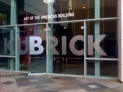 KUBRICK exhibit entrance 1