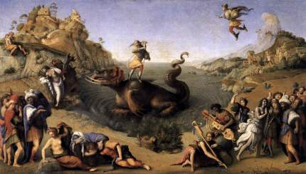 Piero di Cosimo's version of the same scene, with Perseus rescuing Andromeda