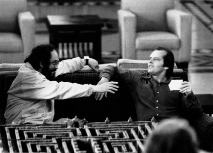 Kubrick and Jack Nicholson on set
