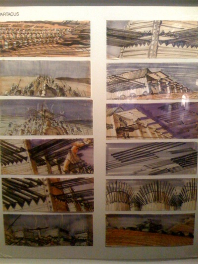 "Storyboards for ""Spartacus"" by Saul Bass"