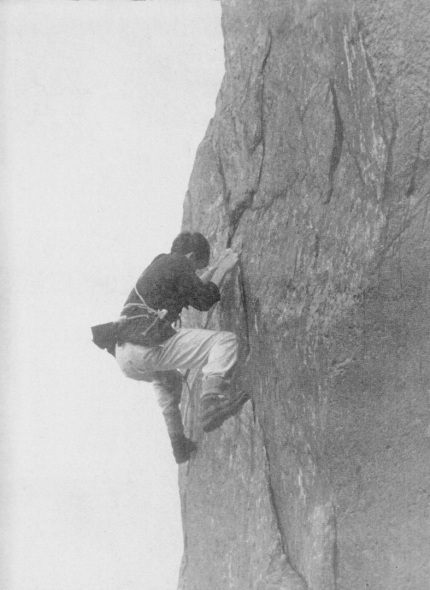 Michael Ward climbing in North Wales.