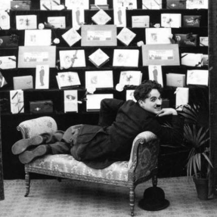 Chaplin on sofa