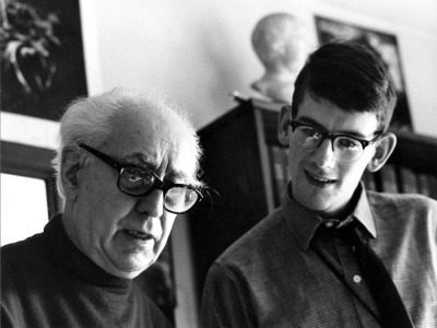 Director Abel Gance and the young Kevin Brownlow