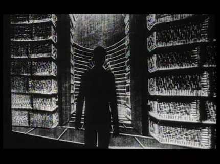 The Trial - man blocking prison door