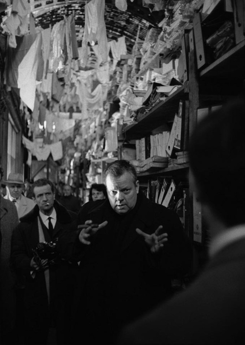 The Trial Welles directing Perkins