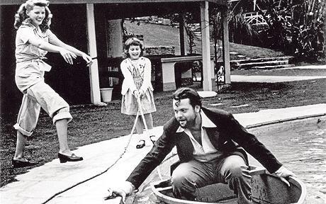 Rita Hayworth, Chris Welles, Orson Welles