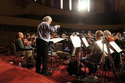 Davis rehearsing Napoleon