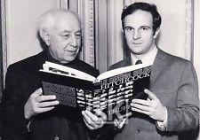 Abel Gance with Francois Truffaut