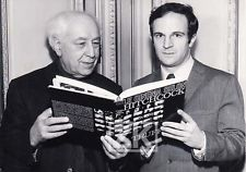 Abel Gance with Francois Truffaut