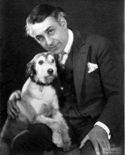 Gance with dog
