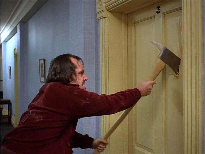 Shining Nicholson axe door