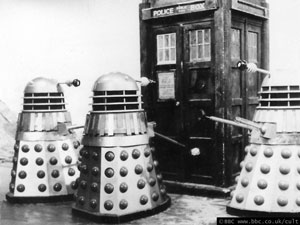 BBC Tardis and daleks
