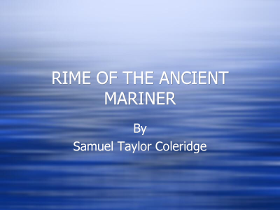 rime of the ancient mariner title
