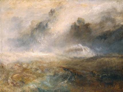 Rough Sea with Wreckage circa 1840-5 by Joseph Mallord William Turner 1775-1851