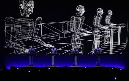 Kraftwerk live w: drawings
