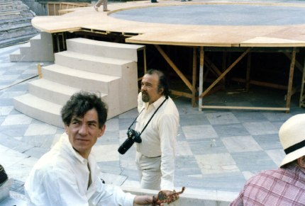 Rehearsing Coriolanus in Greece, with director Peter Hall