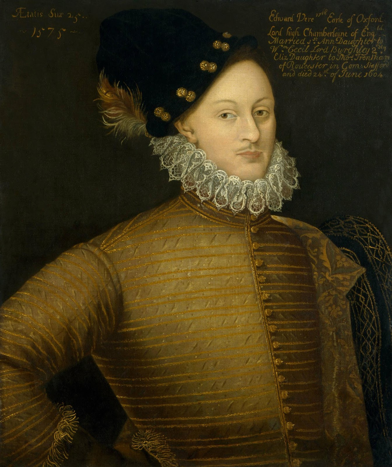 """Edward de Vere, one of the leading candidates for being """"the real Shakespeare"""". The film Anonymous dramatized his story."""