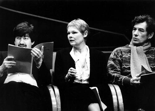 Rehearsing Macbeth with director Trevor Nunn and Judi Dench