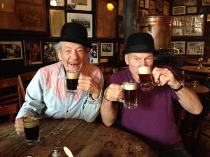 McKellen Steward in bar