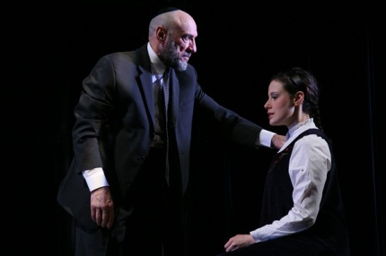 F. Murray Abraham as Shylock, Melissa Miller as Portia, in The Merchant of Venice