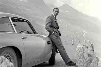 Bond Connery aston martin Goldfinger
