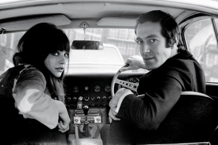 Every bit the epitome of Swinging London: John Barry and his wife, Jane Birkin.