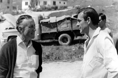 Fleming and Connery on location for From Russia with Love