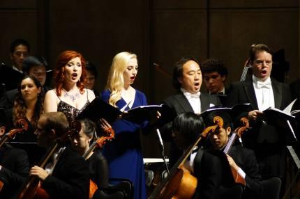 Soloists Sarah Grandpre, Sarah Anderson, Daniel Suk, and Michael Dean