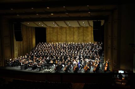 BEETHOVEN CHORALE ONSTAGE AT ROYCE HALL