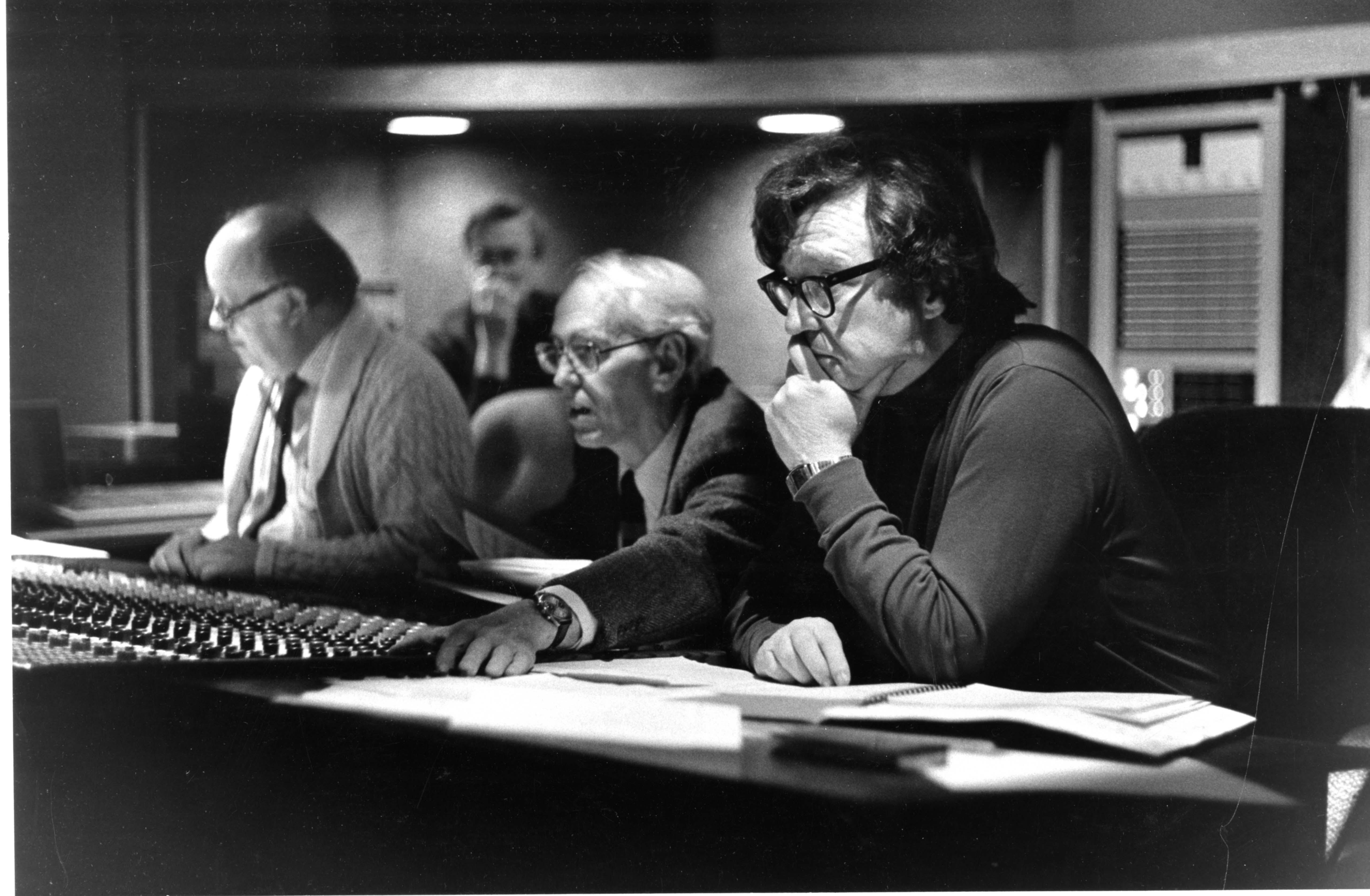 Donald Neuen at a recording session, 1987