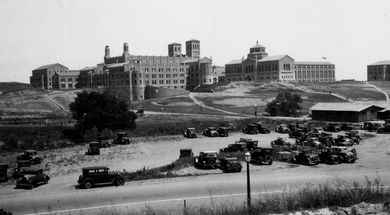 Royce Hall from Sunset Boulevard, 1924
