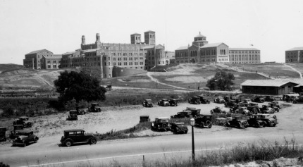 Royce Hall from Sunset Boulevard, 1924