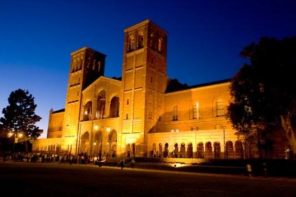UCLA Royce Hall at night