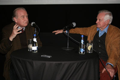 Michael Ciment (left) with John Boorman