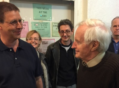The author (l.) with John Boorman outside the Aero Theatre