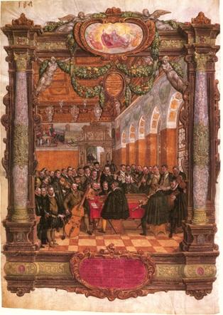 Lassus performing at the Bavarian court